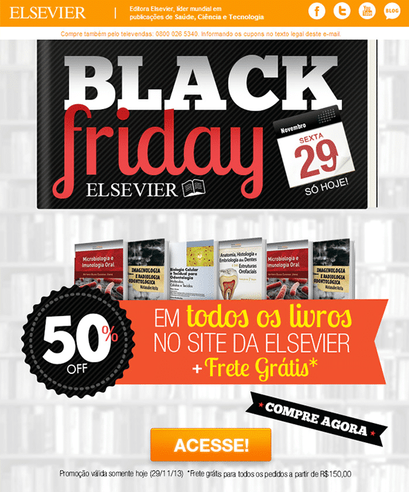 Campagne d'E-Mail Marketing Black Friday - Elsevier