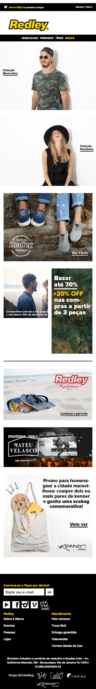 Redley - Version Mobile du site web avant