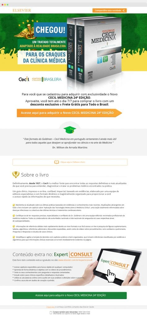 Landing Page Cecil - Elsevier