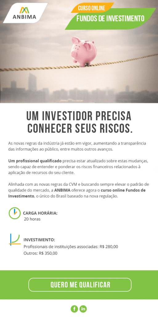 Curso fundos de investimentos ANBIMA - E-mail Marketing