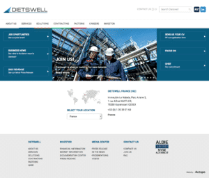 Homepage new Dietswell - Création de site