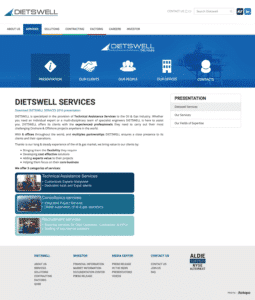 Services new Dietswell - Création de site