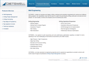 Services old Dietswell - Création de site