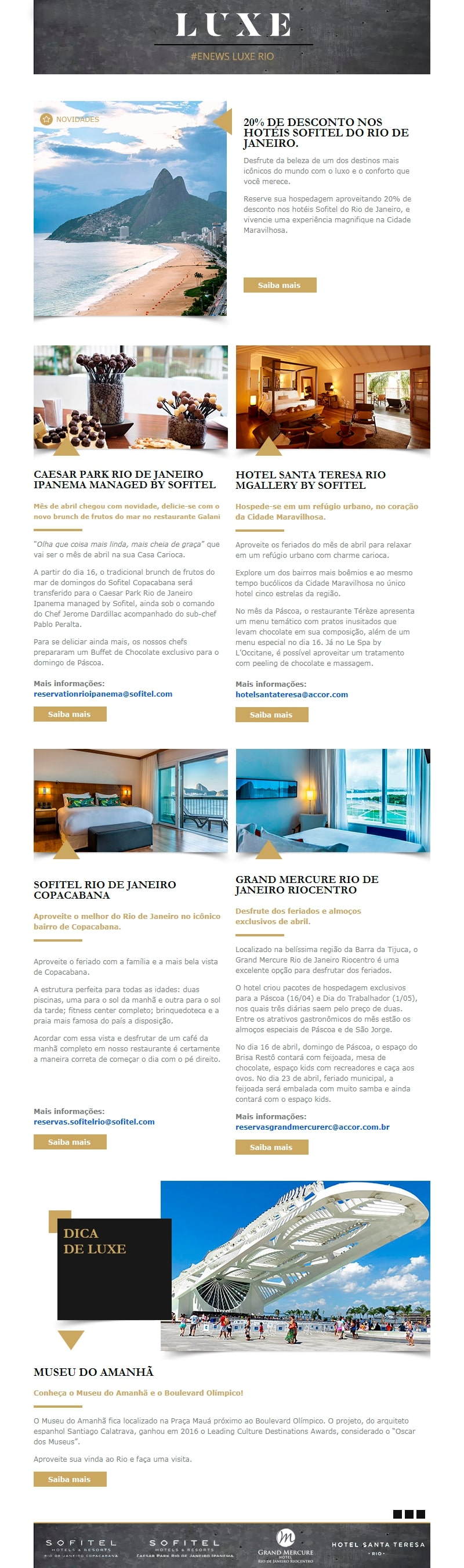 Accor - Création Newsletter LUXE - Template