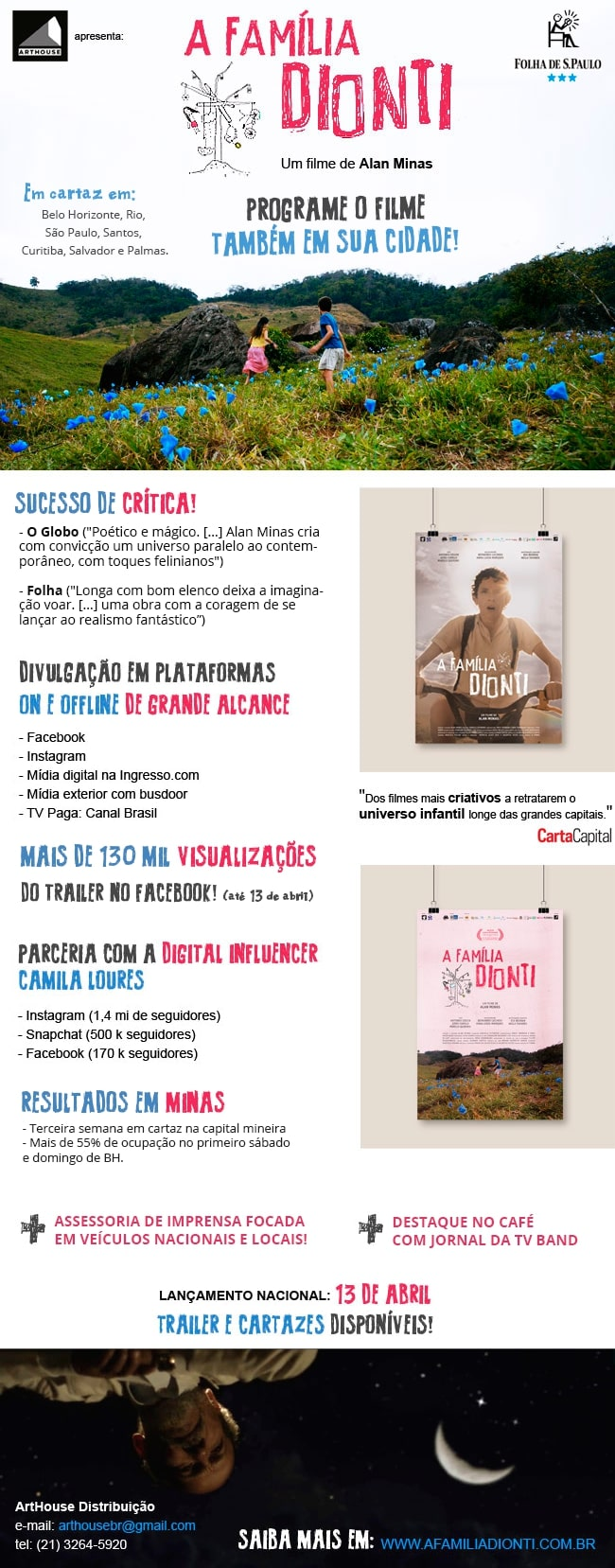 Família Dionti - Design e-mail marketing